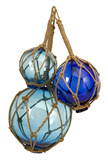 Quincy Blues Glass Ball Float Trio