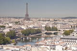 Looking over the Rooftops of Paris from Tour Saint Jacques to the Eiffel Tower