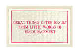 Great Things from Encouragement