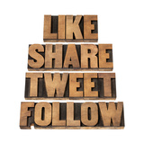 Like, Share, Tweet, Follow Words