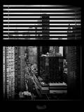Window View with Venetian Blinds: 42nd Street with the Empire State Building and Times Square