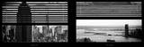 Window View with Venetian Blinds: Panoramic Format