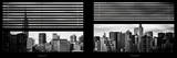 Window View with Venetian Blinds: Manhattan Skylinewith Empire State Building and Chrysler Building