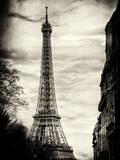 Eiffel Tower, Paris, France - Sepia - Tone Vintique Photography