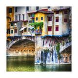 Small Balcony on Ponte Vecchio, Florence, Italy