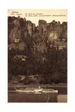 Rathen Sachs. Schweiz, Dampfer Dresden, Felsen
