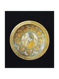 Plate Decorated with Female Figure, Ceramic, Deruta Manufacture, Umbria, Italy