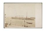 Foto Venedig, Kriegsschiff S.M.S. Strassburg Im Hafen