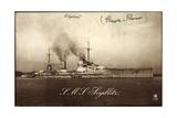 Deutsches Kriegsschiff S.M.S. Seydlitz Am Hafen