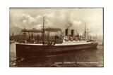 Dampfschiff Hamburg Am Hafen, Hebekrane, Hapag