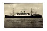 Hapag, Dampfschiff Hamburg in Fahrt, Dampfer