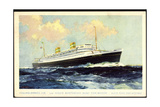 Kunstler Hapag, T.S.S. Nieuw Amsterdam, Dampfschiff