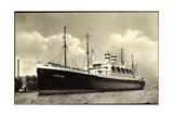 Foto Hapag, Dampfschiff Deutschland Im Hafen