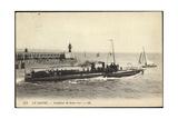 Franzosisches Kriegsschiff Im Hafen, Segelboot