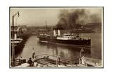 Folkestone, Boulogne Steamer Leaving Harbour