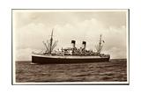 HSDG, Dampfschiff M.S. Monte Cervantes Auf Hoher See