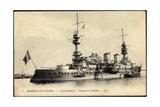 Kriegsschiff Joureguiberry Im Hafen