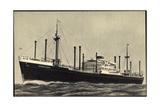 Hapag, M.V. Sommelsdijk, Dampfschiff in Fahrt