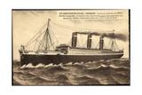 Kunstler Dampfschiff Imperator Der Hapag Aus See