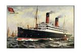 Kunstler Cunard Line, S.S. Carmania, Dampfschiff