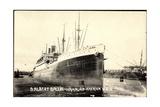 Foto Hapag, Dampfschiff Albert Ballin Vor Anker