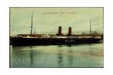 Le Havre, Vue Du Vapeur La Gascogne En Port