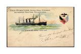 Litho S. S.Vaderland, Red Star Line, Royal Mail Steamer