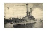 Kriegsschiff Illinois Im Hafen, Boote, Segelboot