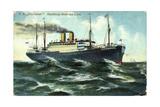 Hapag, P.D. Cincinnati, Dampfschiff Im Wellengang