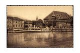 Konstanz Bodensee, Blick Zum Hafen, Dampfer Mainau
