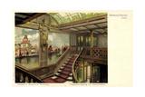 Dampfer Kaiserin Auguste Victoria Der Hapag, Treppe