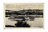 Blick Auf Den Dampfer Dresden Auf Der Elbe