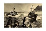 Wehrmacht, Kriegsmarine,Raumboote Im Einsatz,Schiffe