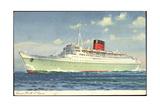 Cunard Line, R.M.S. Caronia, Dampfschiff in Fahrt