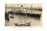 Le Havre, Dampfschiff Le Trouville Sortant Du Port