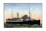 Der Dampfer Ts Kaiser Der Hamburg Amerika Linie