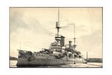Kriegsschiff Brussels Im Hafen