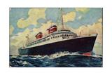 Kunstler United States Lines, S.S. America, Steamer