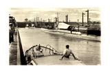 Panama Kanal, Gatun Locks, Deutsche U Boote