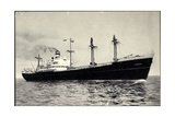 Hapag, S.S. Eemdyk, Dampfschiff Auf Hoher See