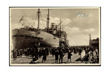 Cuxhaven, Hapag, Dampfer Albert Ballin, Passagiere