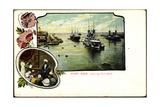 Passepartout Port Said Agypten, Hafen, Kriegsschiffe