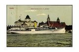 Stettin in Pommern,Dampfer, Henterrasse Mit Hertha
