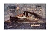 Kunstler Dampfer Nagasi Maru Der Nyk Line, Lotse