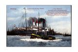 Hamburg, Dampfer Cap Polonio Der Hsdg Im Hafen