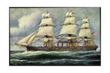 Kunstler Rave, C., Segelschiff, Dampfer, Usa