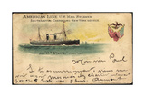 Litho American Line, Mail Steamer, S.S. St. Paul