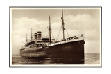 Hapag, Dampfschiff Deutschland in Fahrt, Front