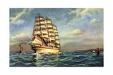 Kunstler Segelschiff, Kutter, Segelboote