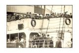 Hapag, Dampfschiff Kaiser, Abfahrt, Passagiere